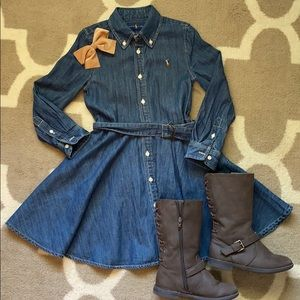 Ralph Lauren girl's denim dress
